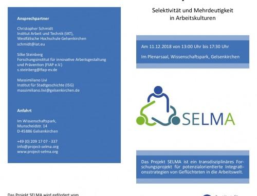 11.12.2018: 3. Beirat und interaktive Abschlussveranstaltung des Projektes SELMA